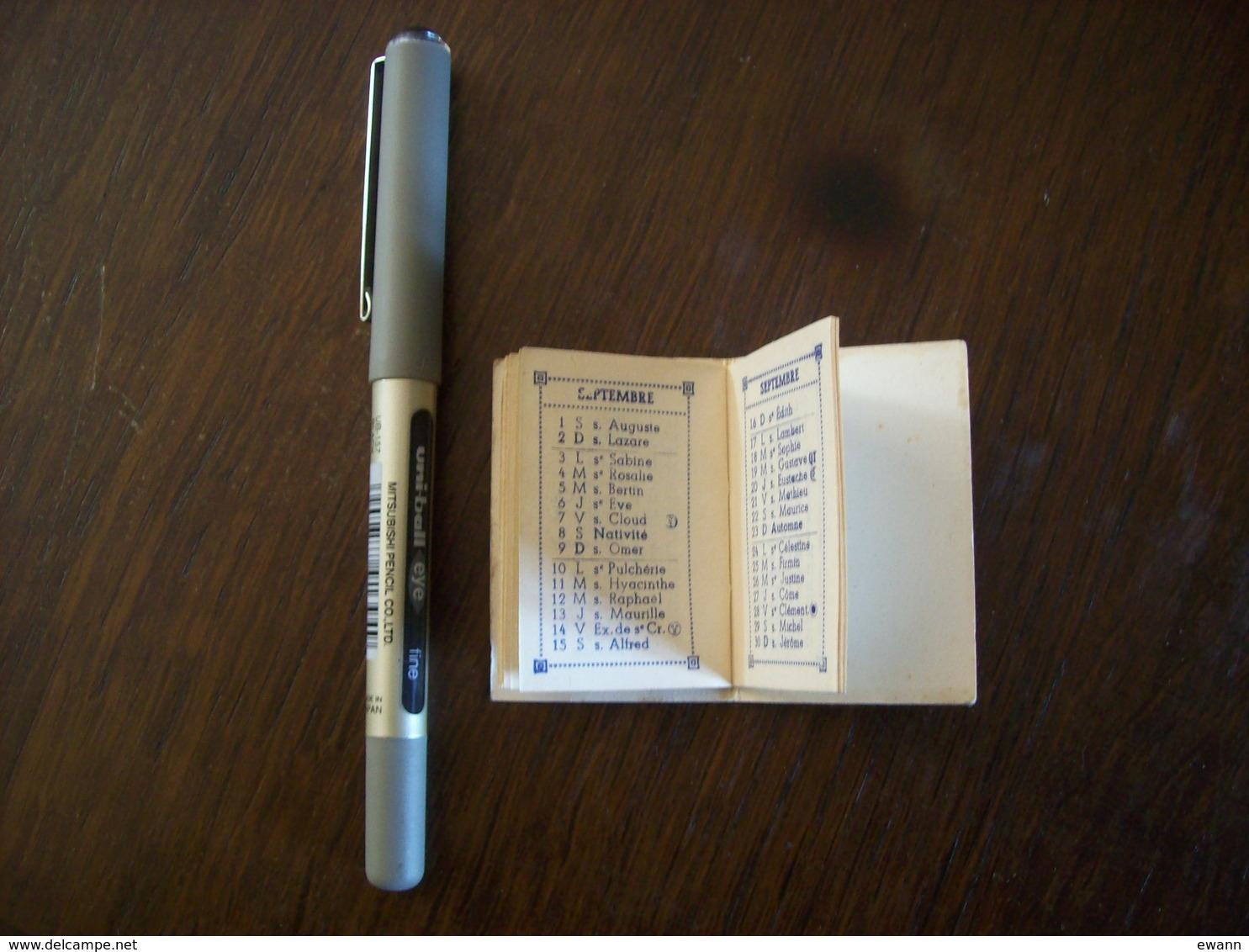 Mini-agenda De 1962 - Pâtisserie - Confiserie Michel Yvon - Louviers (27) - Chaton - Calendriers