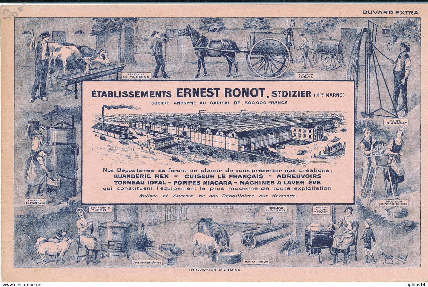 BU 1647 /  BUVARD  ETABLISSEMENTS ERNEST RONOT ST DIZIER - Agriculture