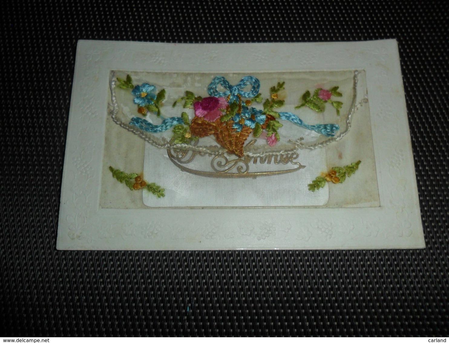Carte Brodée ( 11 )  Geborduurde Kaart  Carte Enveloppe - Brodées