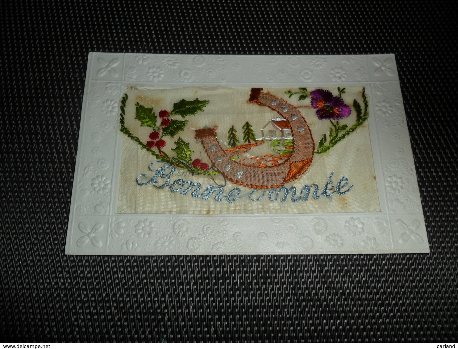 Carte Brodée ( 15 )  Geborduurde Kaart  Carte Enveloppe - Brodées