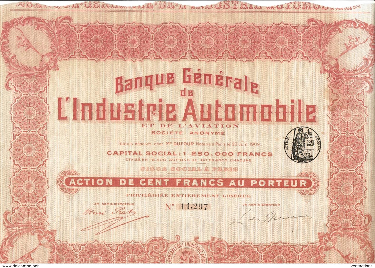 75-BANQUE GENERALE DE L'INDUSTRIE AUTOMOBILE & DE L'AVIATION - Other