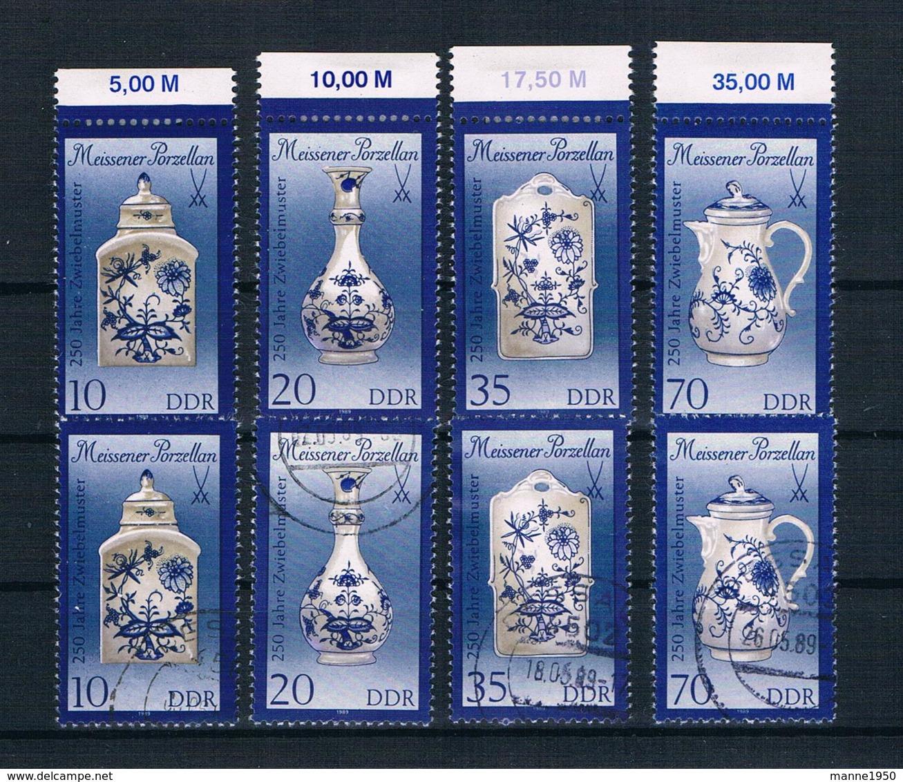 DDR 1989 Porzellan Mi.Nr. 3241/44 I Kpl. Satz ** + Gestempelt - Neufs