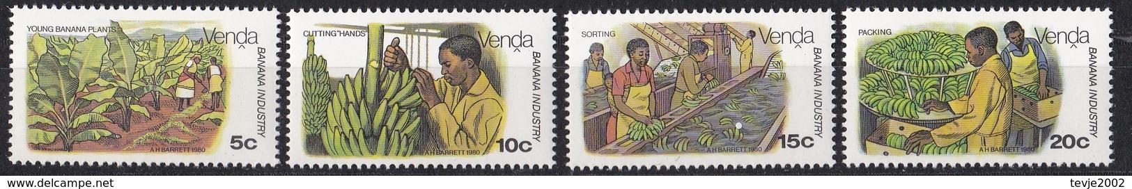 Wib_ Venda - Mi.Nr. 30 - 33 - Postfrisch MNH - Bananen Bananas - Landwirtschaft