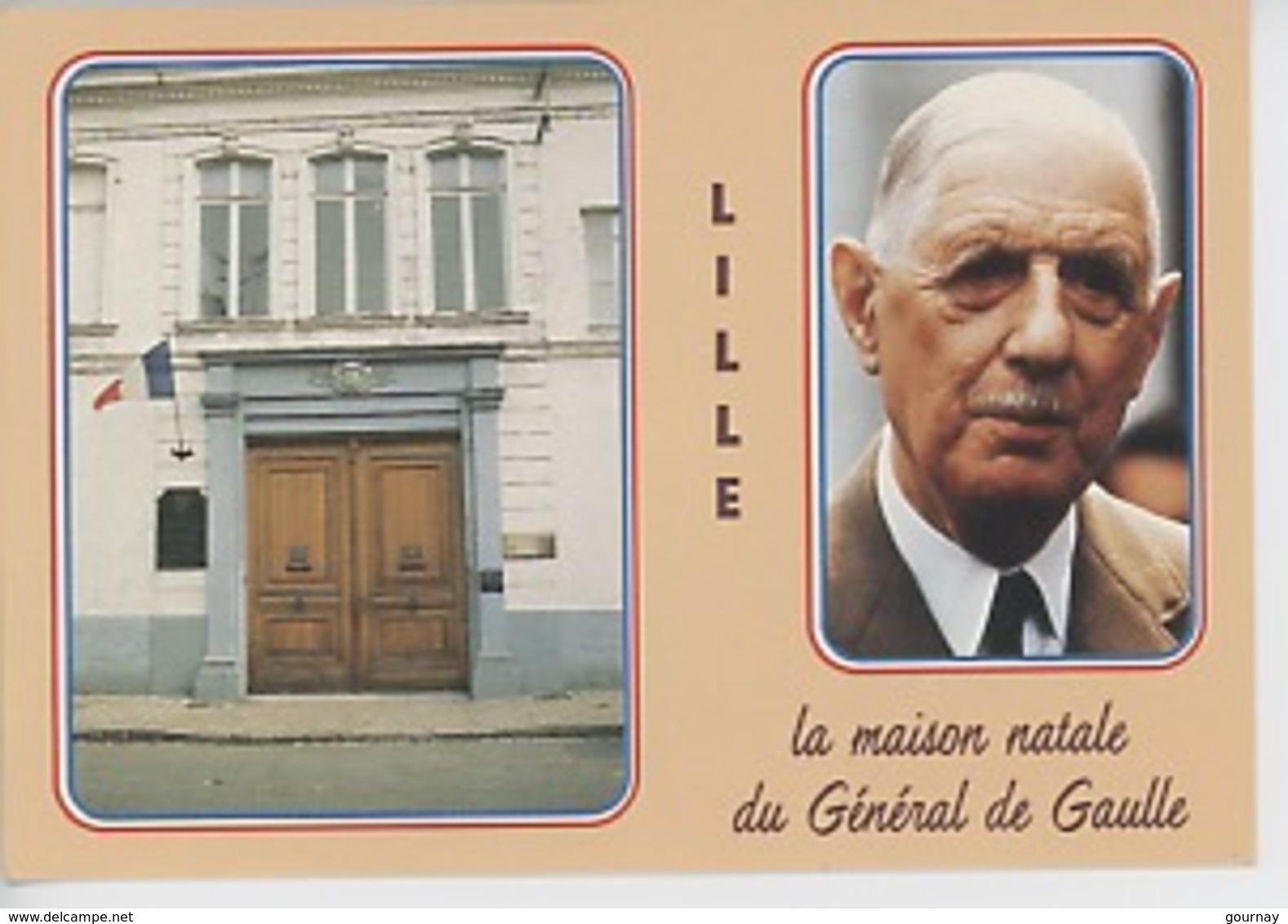 Lille : Portrait Et Maison Natale Du Général De Gaulle (1890/1970 Rue Princesse) ECP Armées - Lille