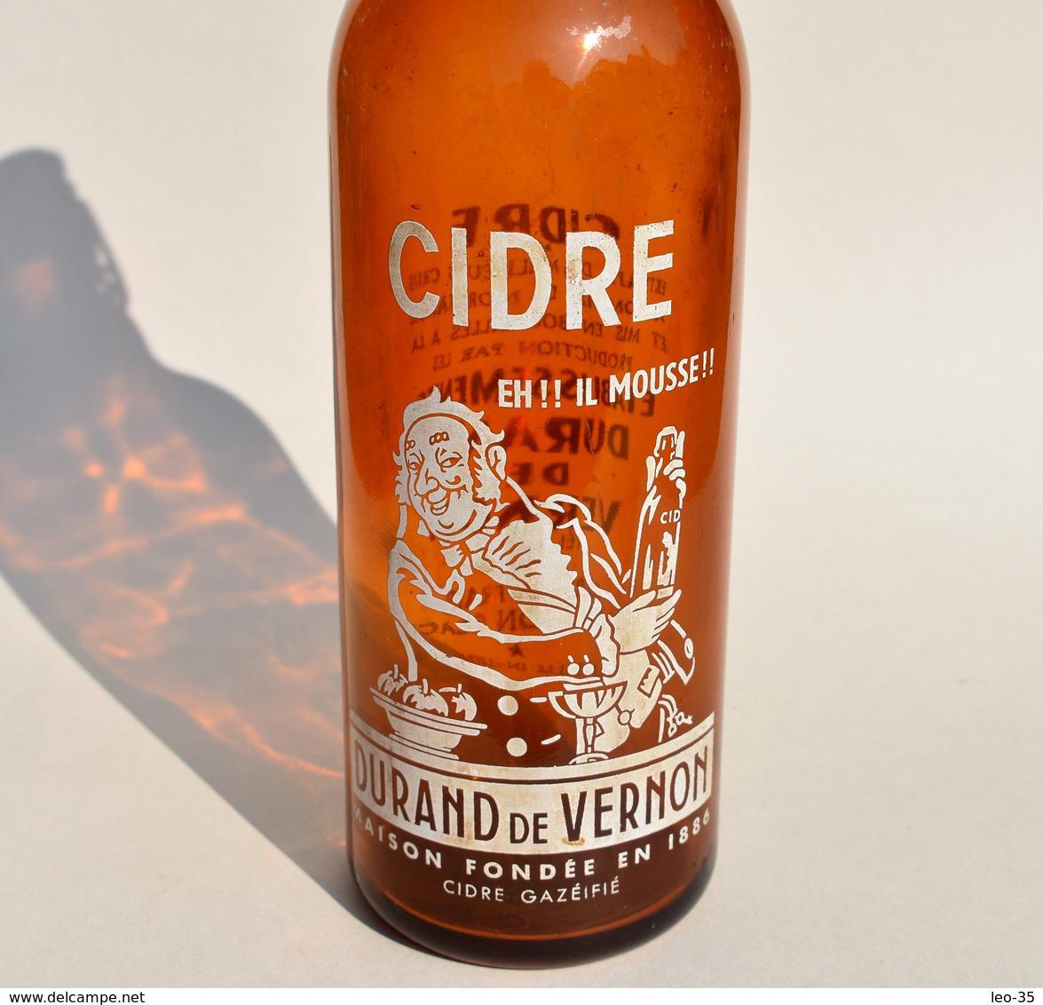 Ancienne Bouteille En Verre Cidre Durand De Vernon - Andere Verzamelingen