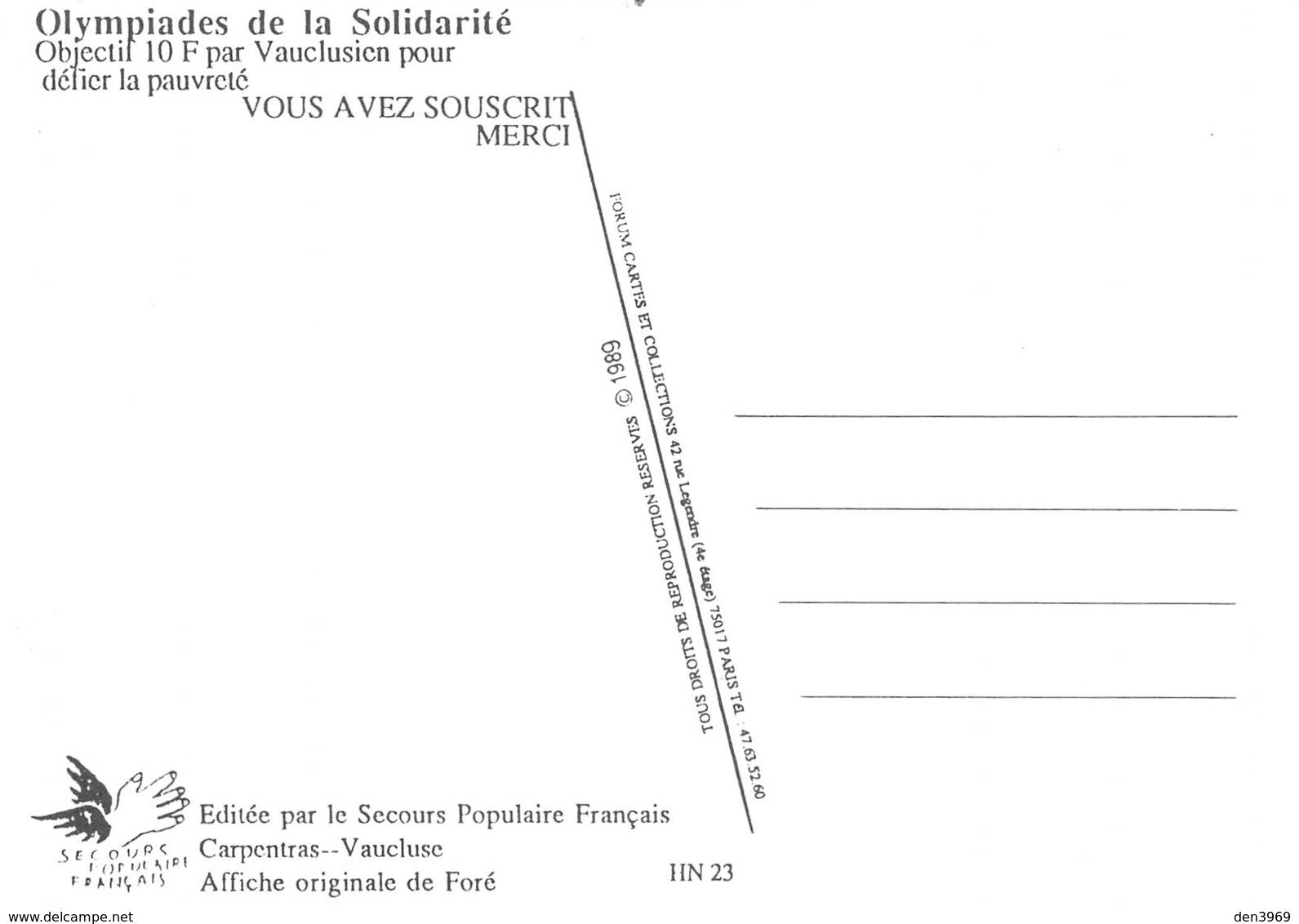 Philippe Fauré Dit FORE - Affichiste Né à Bérat - Les Olympiades De La Solidarité - SPF Carpentras - Flamme Olympique - Fore