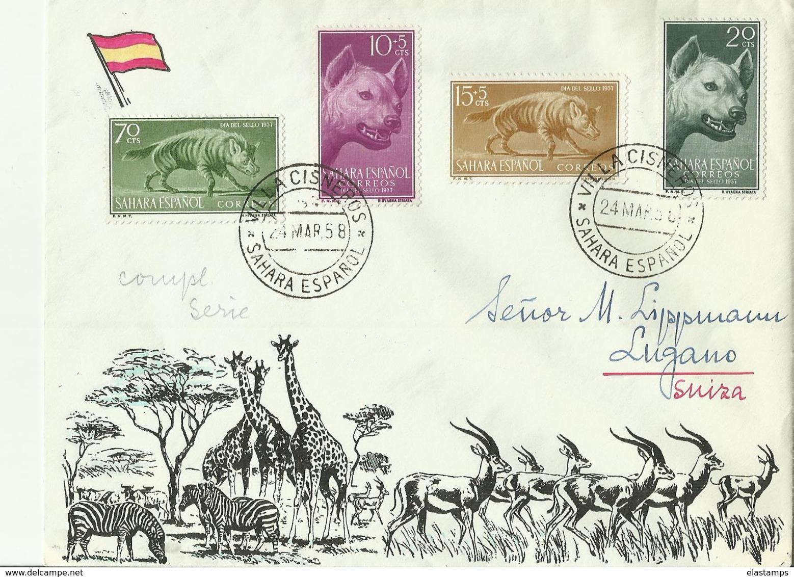 SAHARA ES CV 1958 - 1951-60 Lettres