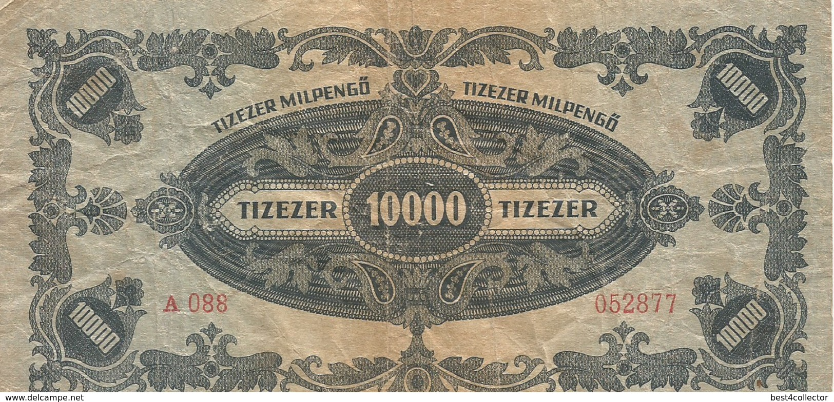 Ungheria Tizezer Milpengö 10.000 Anno 1946 Bank Note - Hungary