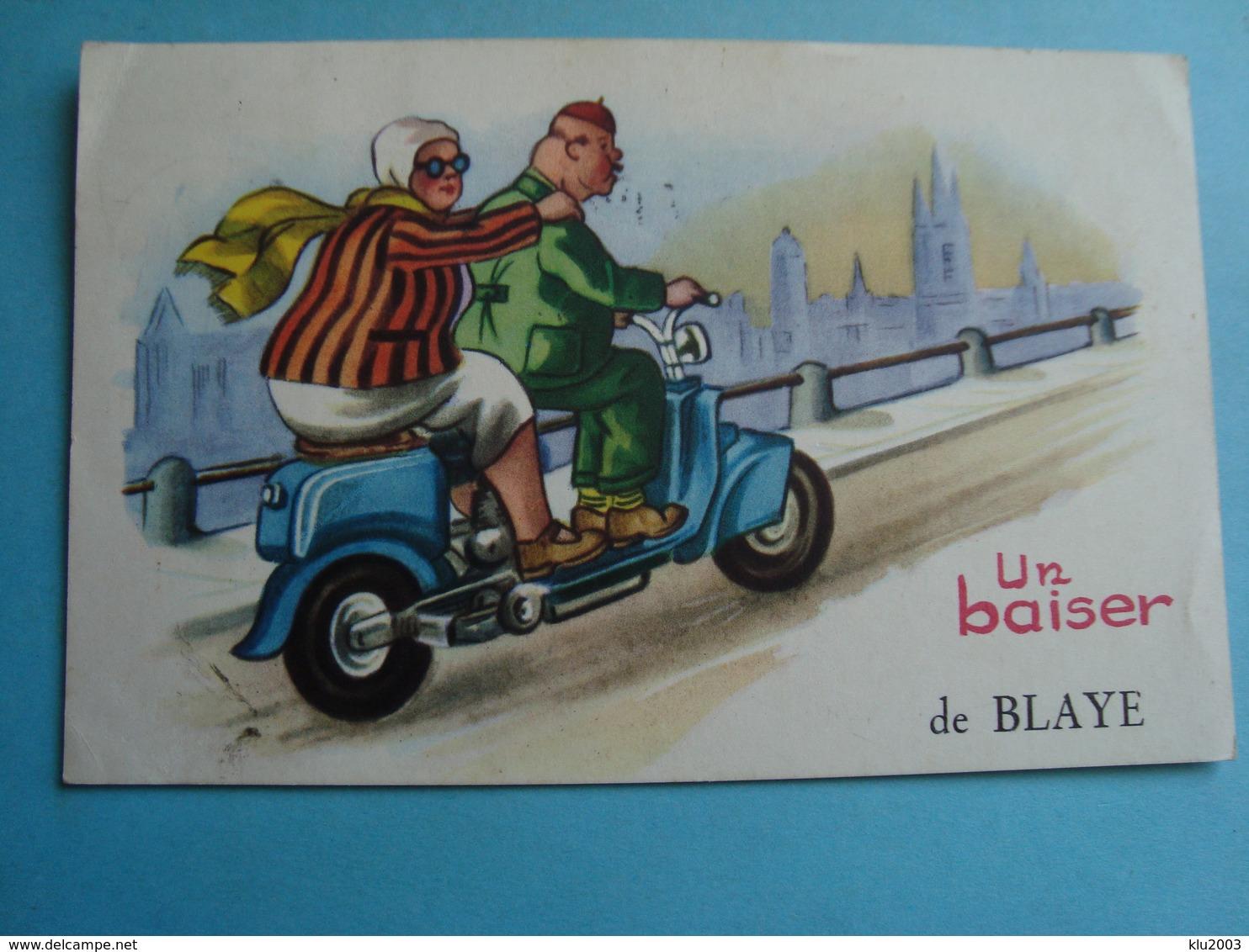33 - Blaye - CPSM - Un Baiser - 1956 - Blaye