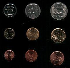 South Africa Lot Of 9 Different Used Coins - Zuid-Afrika