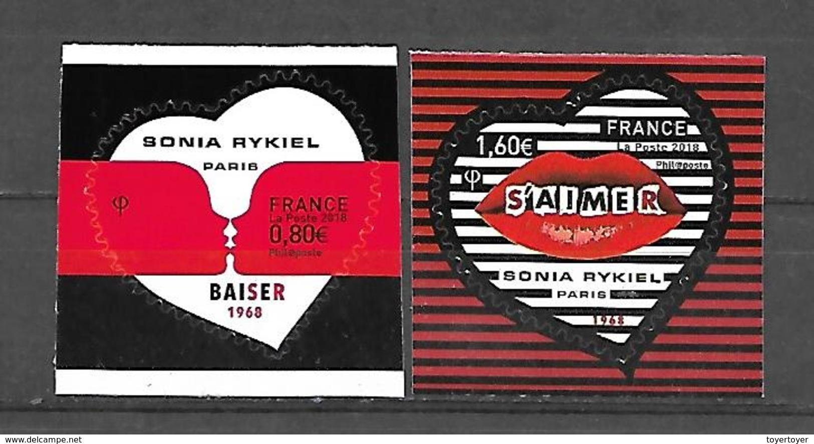 A253  Adhésifs Paire Coeur De Sonia Rykiel N++ - France