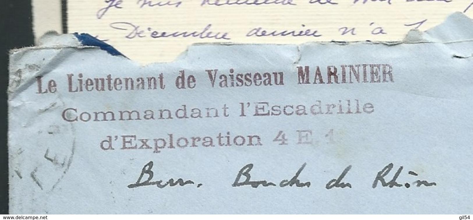 Lot De 2 Lacs Envoi Du Lieut De Vaisseau Du Commandant D'escadrille 4 E1 ( Aéronavalle ) En Juillet 1931 Lx35 - Marcophilie (Lettres)