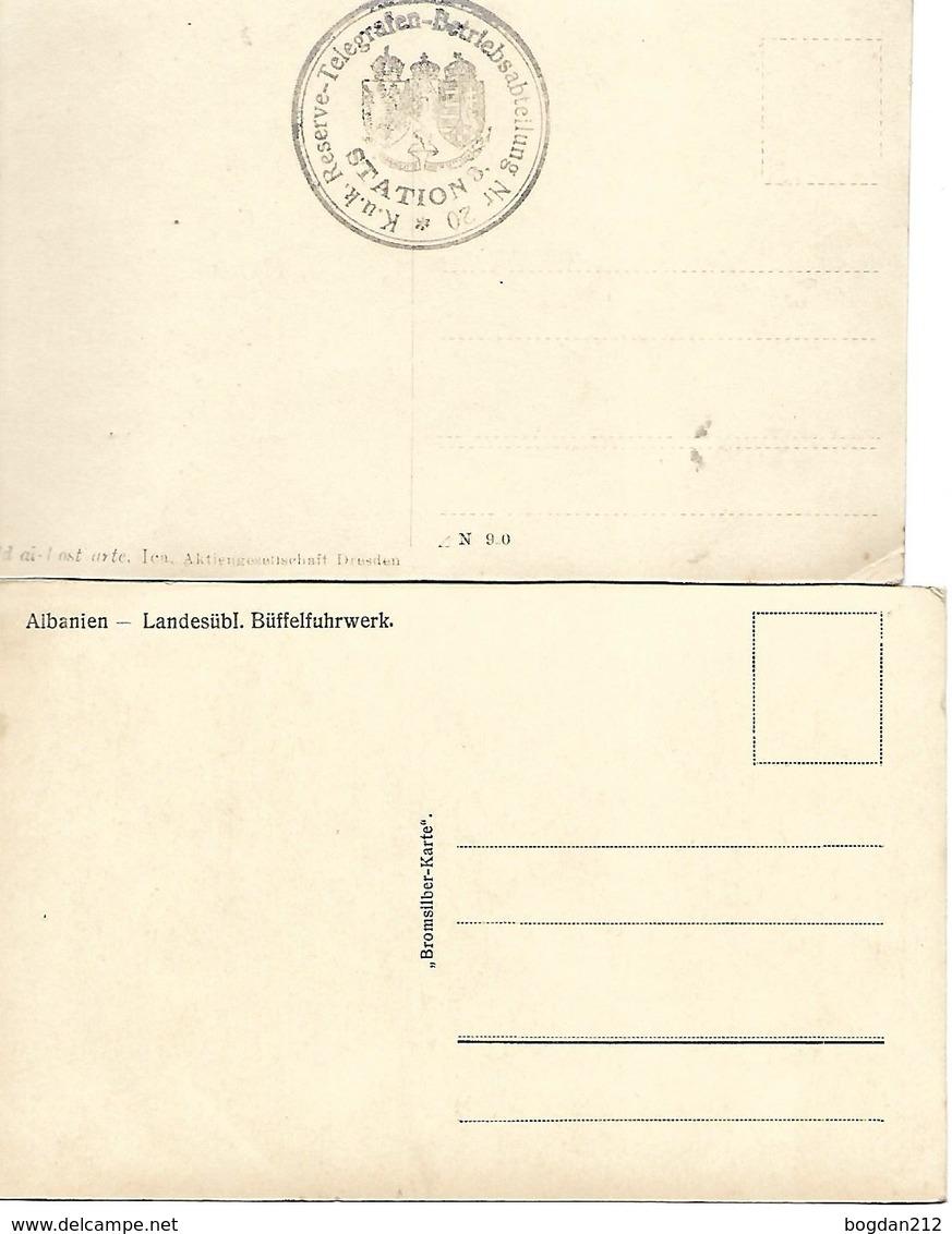 1914/30 - ALBANIEN , 2 Stk. Gute Zustand, 2 Scan - Albanien
