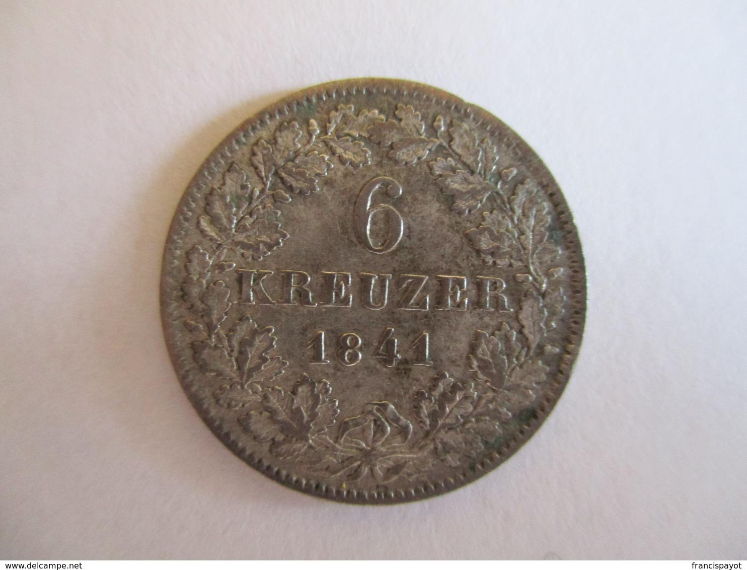 Bade: 6 Kreuzer 1841 - [ 1] …-1871: Altdeutschland