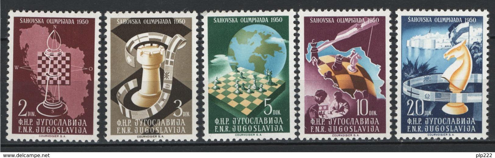 Jugoslavia 1950 Unif. 549/53 **/MNH VF - Nuovi