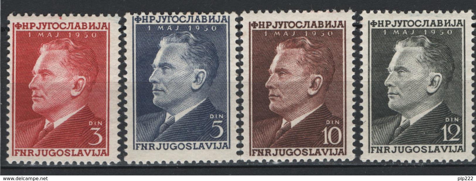 Jugoslavia 1950 Unif. 544/47 **/MNH VF - 1945-1992 Repubblica Socialista Federale Di Jugoslavia