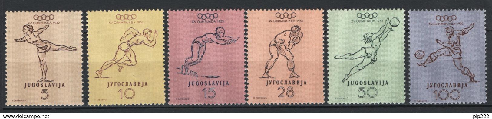 Jugoslavia 1952 Unif. 611/16 **/MNH VF - 1945-1992 Repubblica Socialista Federale Di Jugoslavia