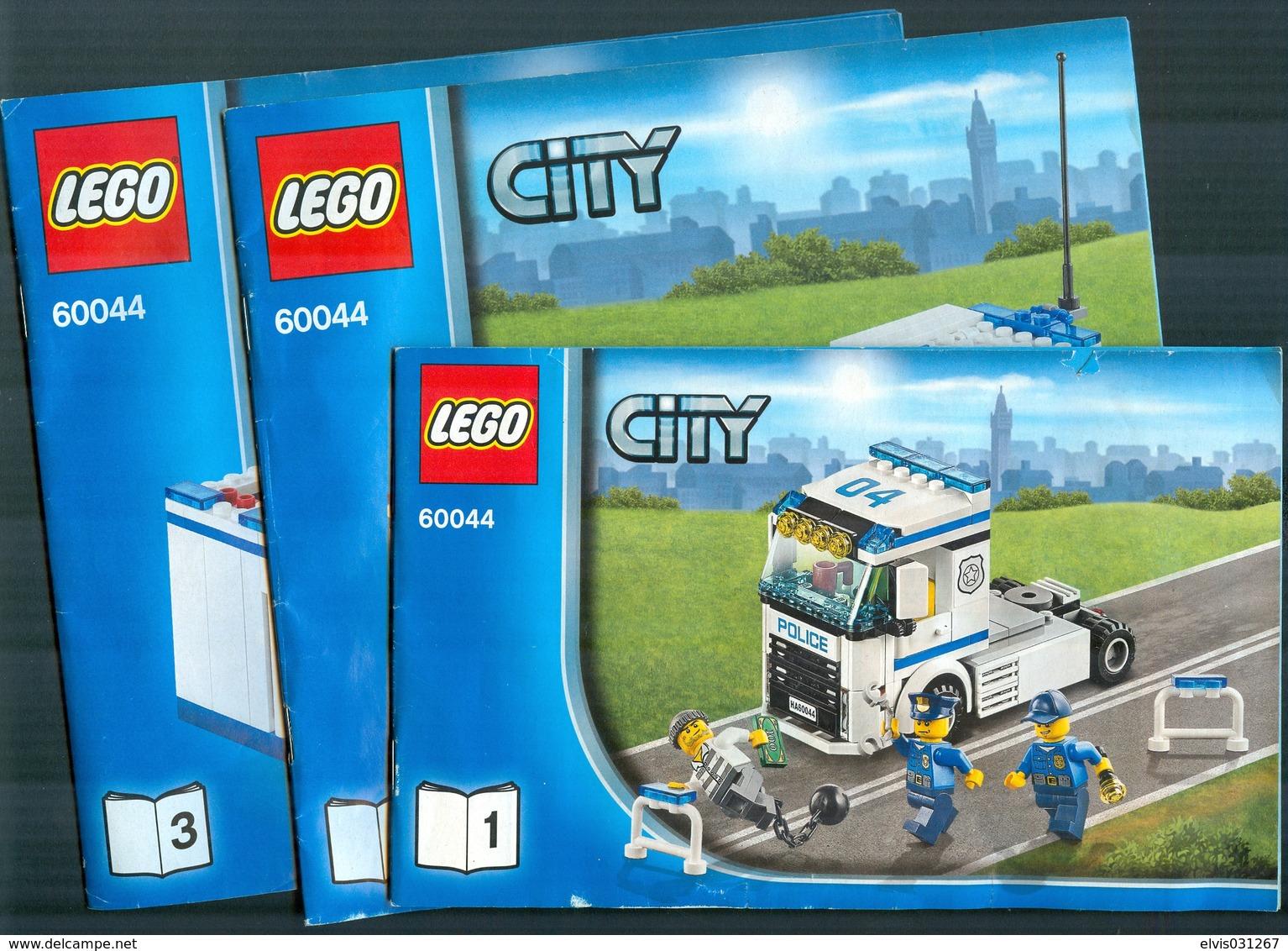 LEGO - 60044 INSTRUCTION MANUAL 3 PARTS - Original Lego 2014 - Catalogs