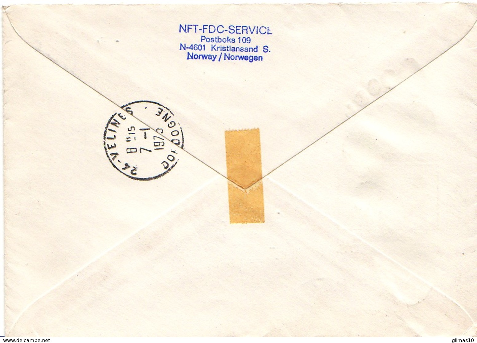NORVEGE : 1974-1975 - Lettre Recommandée (remboursement) Pour La France - Lettres & Documents