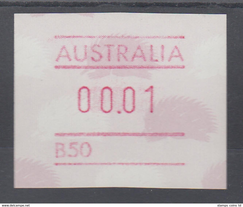 Australien Frama-ATM 4. Ausgabe 1987 Ameisenigel, Fehlverwendung Mit B-Nummer ** - Vignette Di Affrancatura (ATM/Frama)