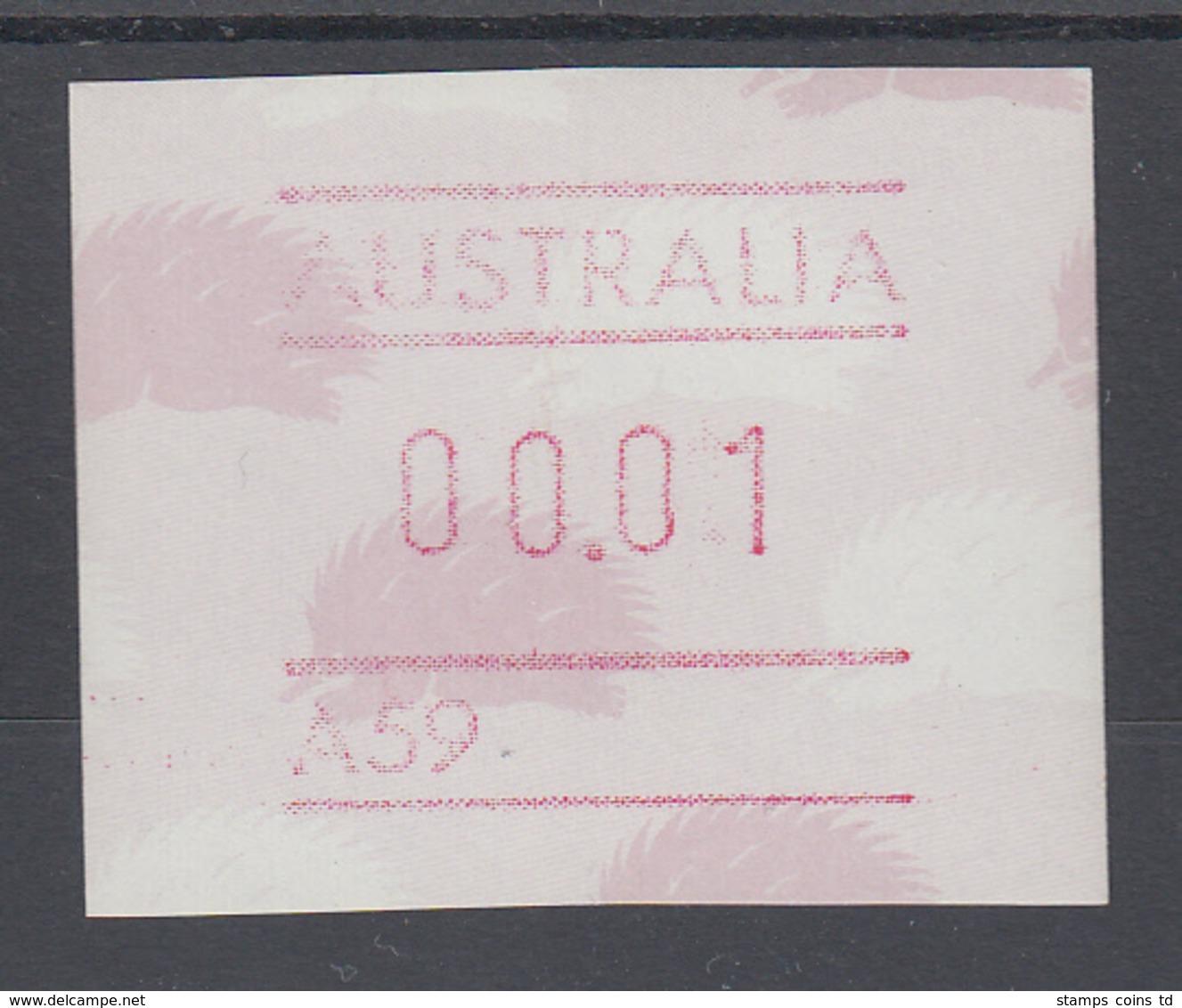 Australien Frama-ATM 4. Ausgabe 1987 Ameisenigel, Fehlverwendung Mit A-Nummer ** - Vignette Di Affrancatura (ATM/Frama)