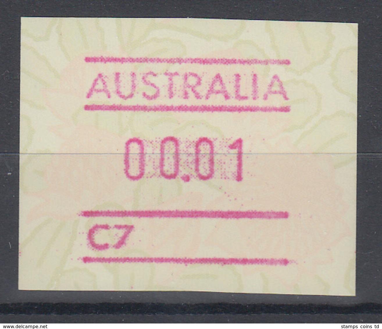 Australien Frama-ATM Waratah-Blume Mit Automatennummer C7 ** - Frankeervignetten (ATM/Frama)