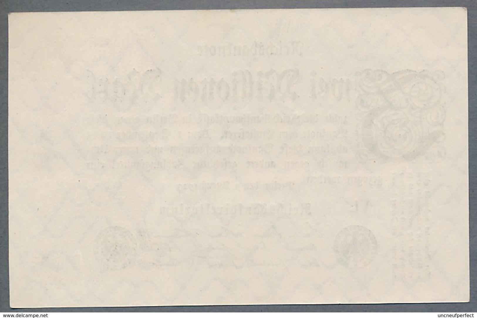 Pick104c Ro103d DEU-116a. 2 Million Mark 1923 NEUF - [ 3] 1918-1933 : Repubblica  Di Weimar