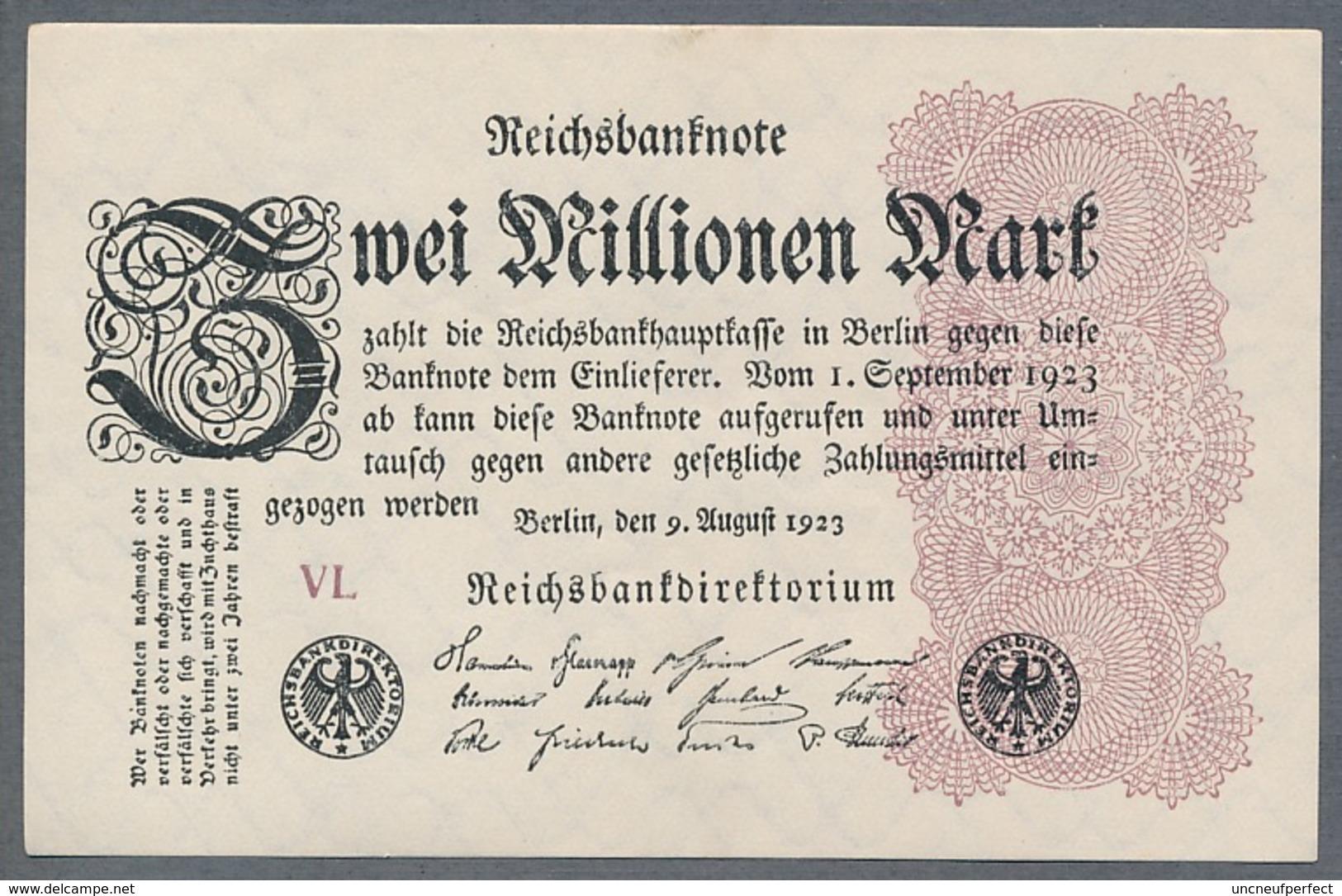 Pick104 Ro103d DEU-116a  2 Million Mark 1923 NEUF - 2 Millionen Mark