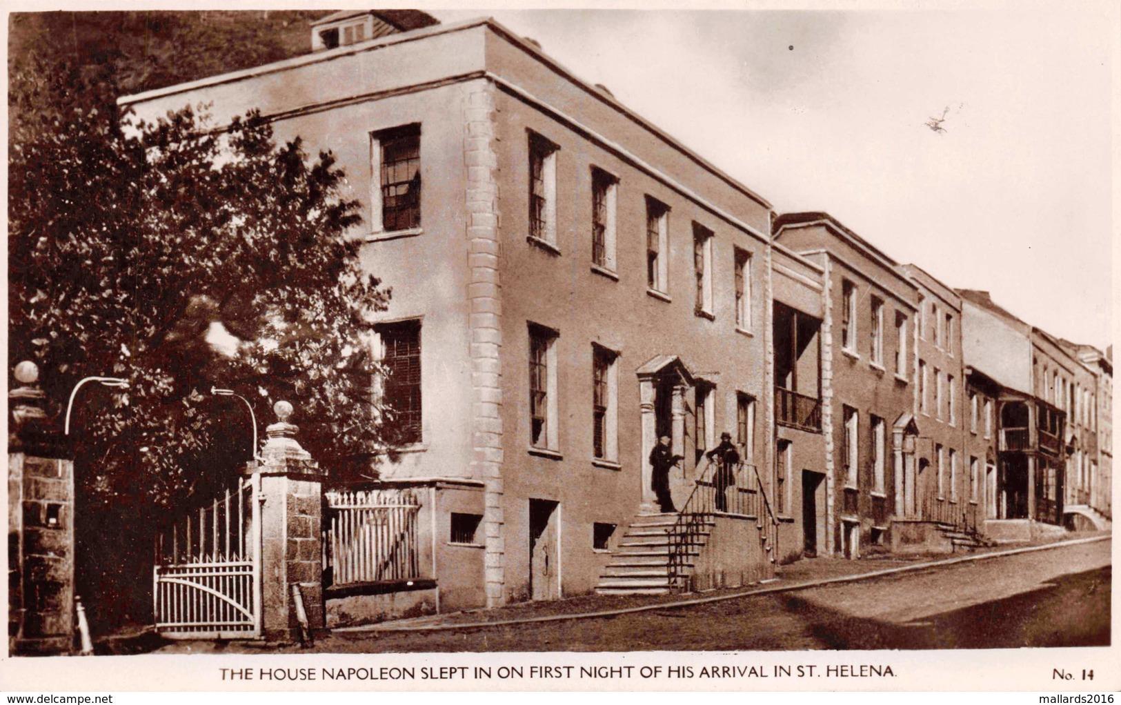 ST. HELENA - THE HOUSE NAPOLEON SLEPT ON HIS 1st NIGHT ~ PHOTO POSTCARD #92809 - Saint Helena Island