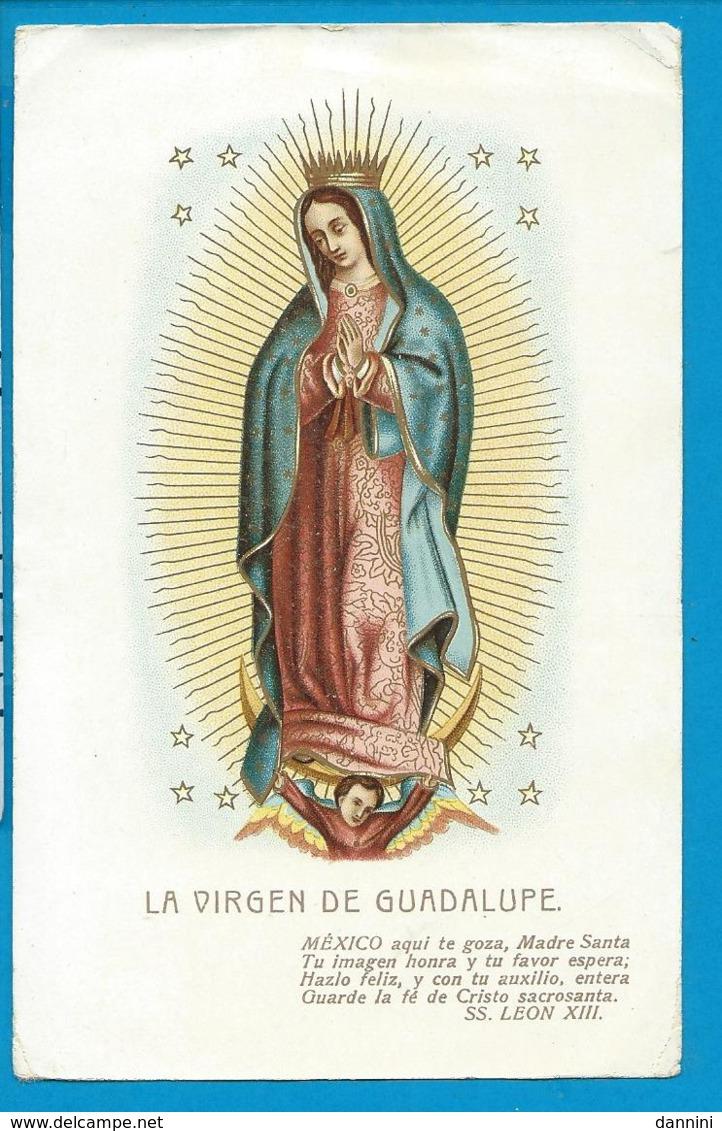 Holycard   La Virgen De   Guadalupe - Images Religieuses