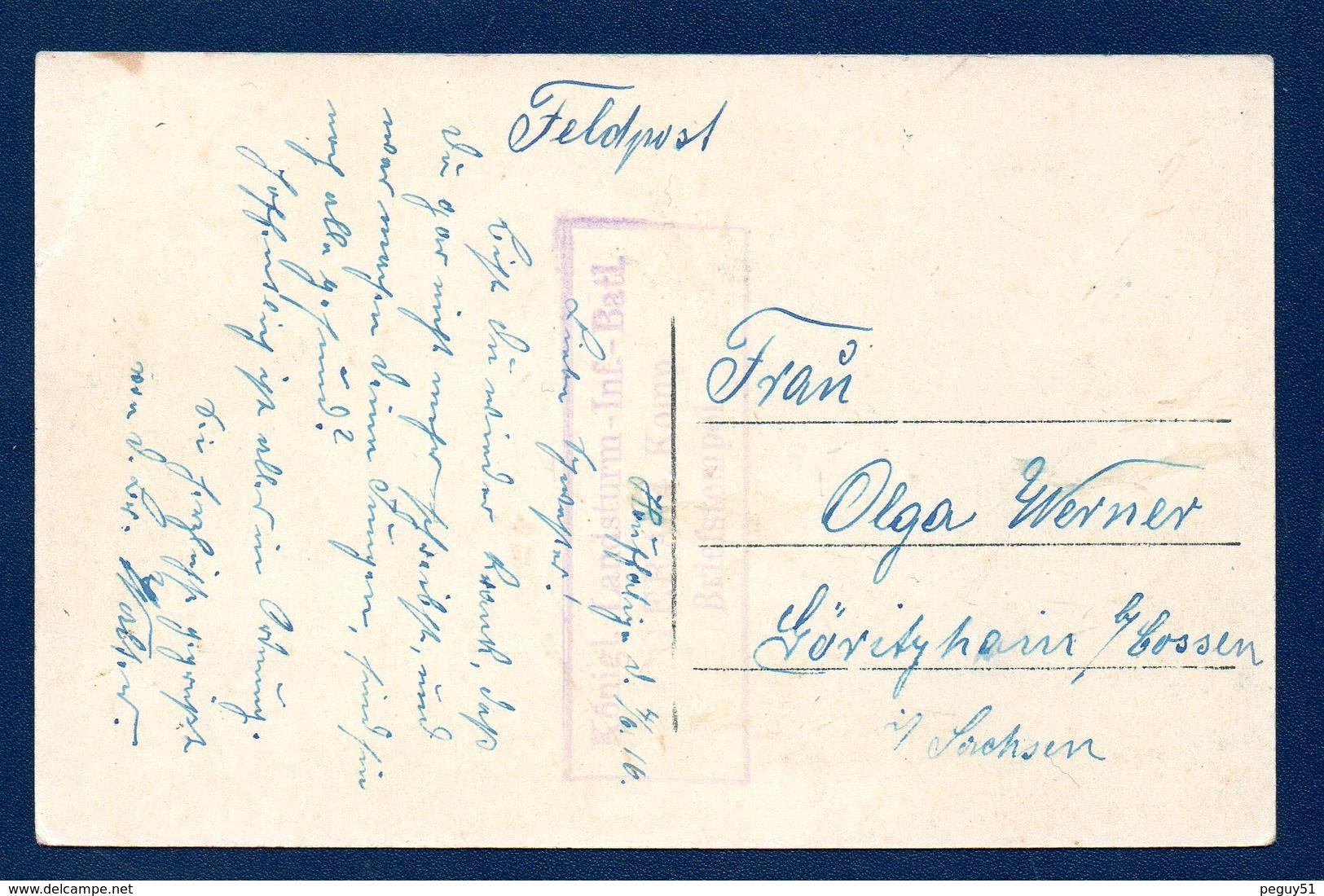 Lacuisine (Florenville). La Semois. Hôtel Jacoby. Feldpost  1916 ( Königl. Landsturm-Infanterie-Bataillon-Gera) - Florenville