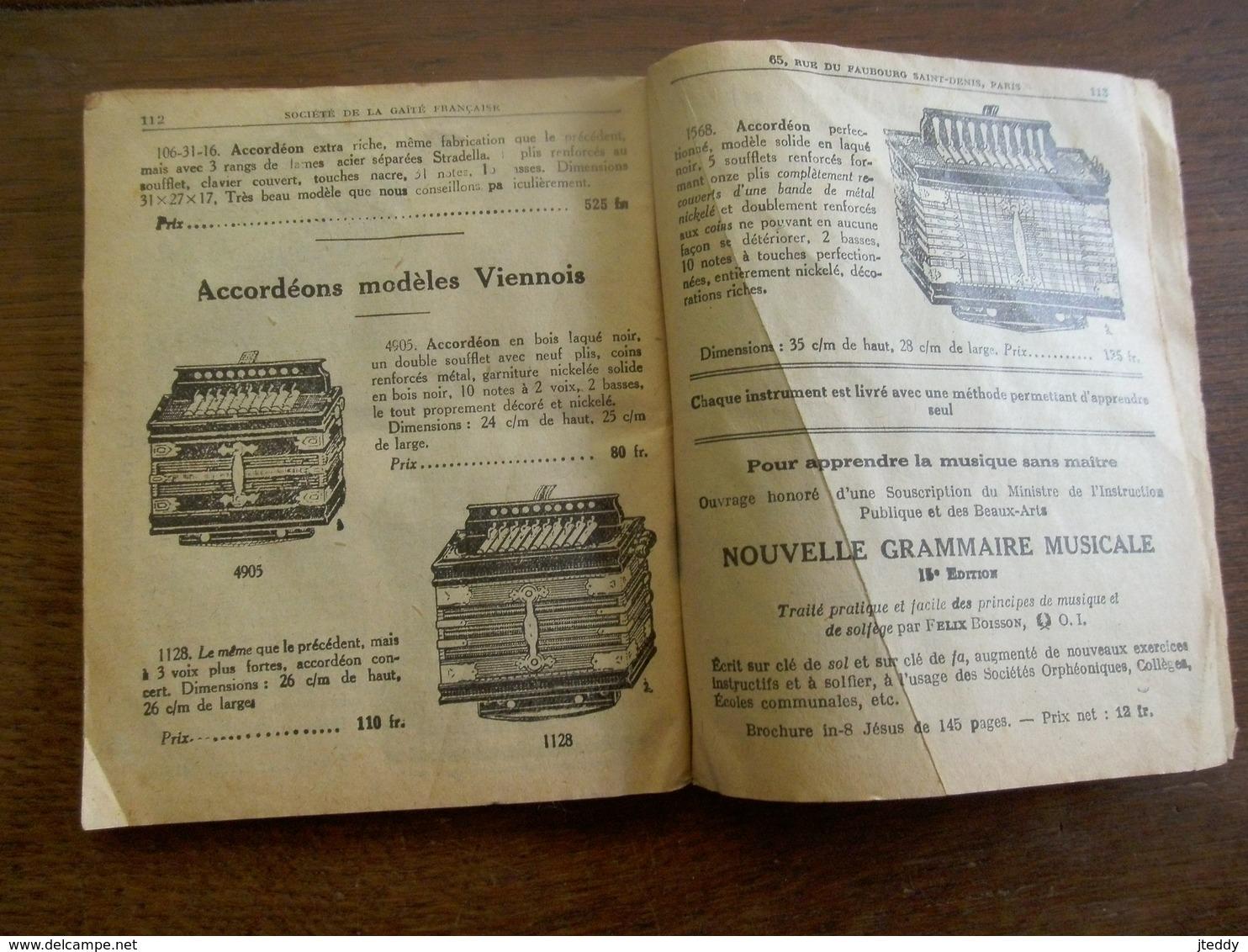 Album CATALOGUE Illustré   Avec Gravure  1900---- Soc . De La  Gaité Française - Livres, BD, Revues