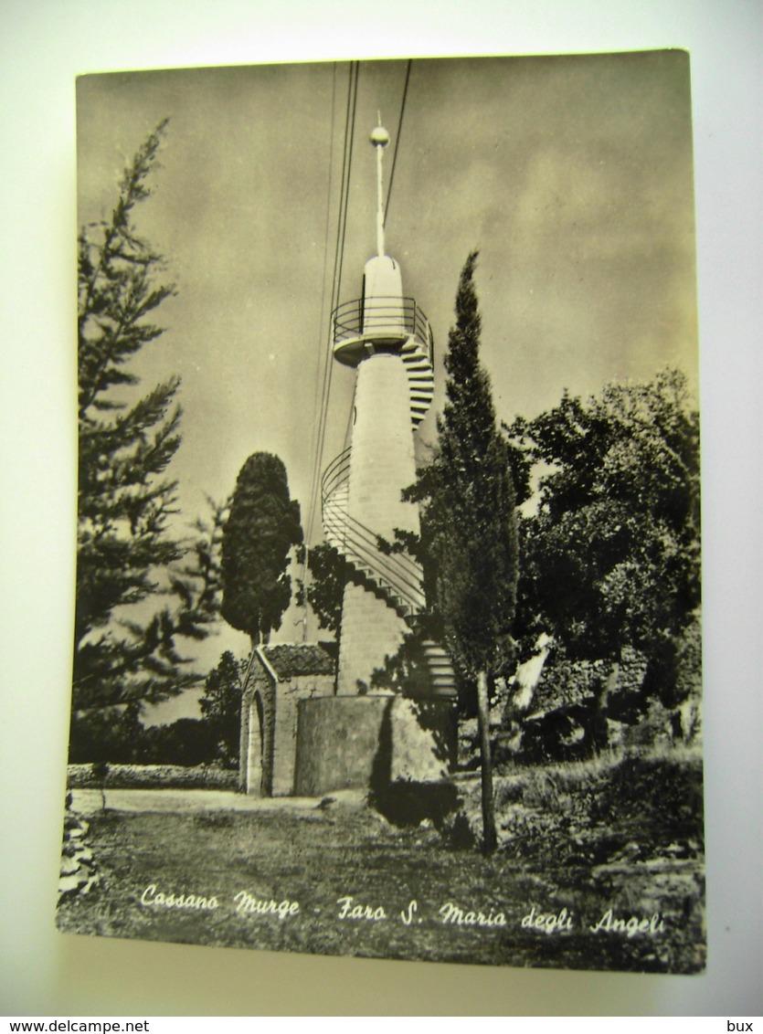CASSANO MURGE  FARO  S. MARIA DEGLI  ANGELI     BARI PUGLIA   VIAGGIATA  COME DA FOTO - Bari