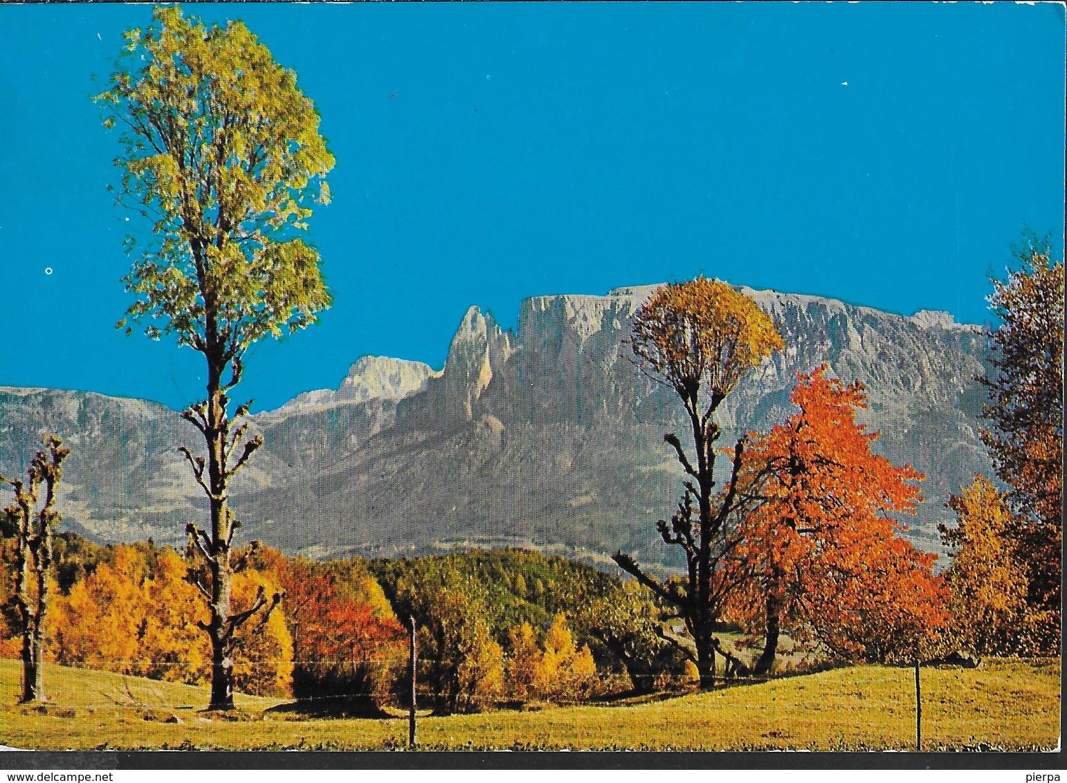 DOLOMITI - ALTO ADIGE - RENON - VIAGGIATA 1971  PER ESTERO (SVIZZERA) DA COLLALBO (BOLZANO) - ANNULLO BILINGUE - Alpinisme