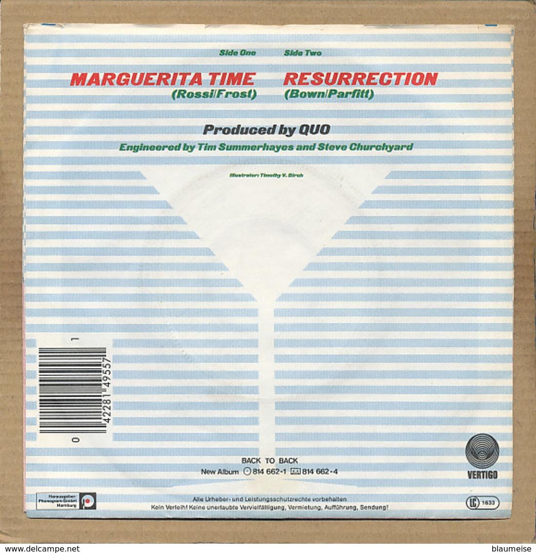 """7"""" Single, Status Quo, Marguerita Time - Rock"""