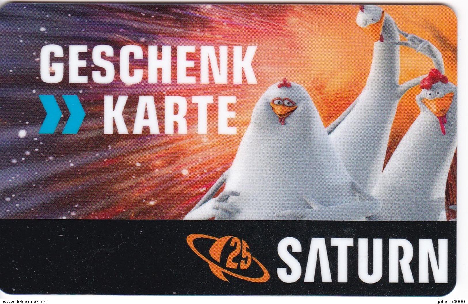 Geschenkkarte Saturn   Gift  25 Jahre - Gift Cards