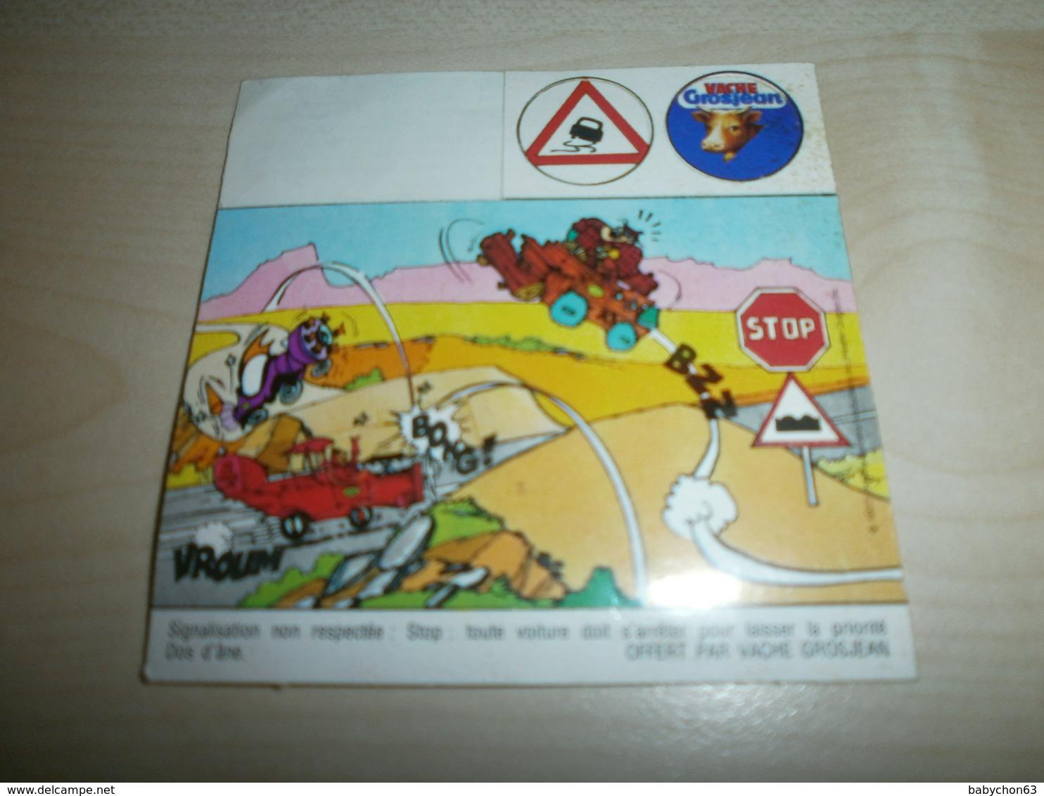Autocollant   Oofert Par Vache Grosjean  SIGNALISATION - Trade Cards