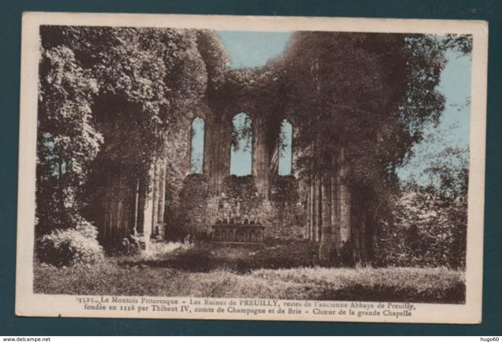 Les Ruines De PREUILLY, Restes De L'ancienne Abbaye De Preuilly - Choeur De La Grande Chapelle - Autres Communes