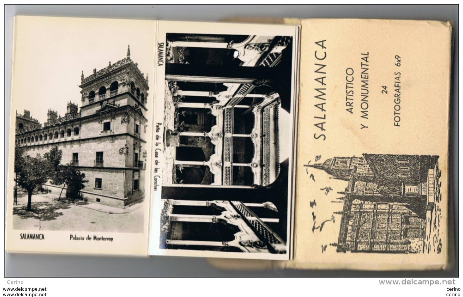 SALAMANCA:  CARNET  DE  24  FOTOGRAFIAS  Cm. 6x9  -  ARTISTICO  Y  MONUMENTAL - Fotografía