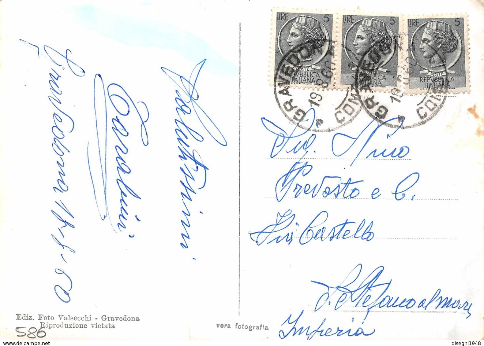 """M07886""""LAGO DI COMO-L'ULTIMO BACINO"""" ANIMATA PIROSCAFO """"GIGLIO""""  CART ORIG. SPED. 1960 - Como"""