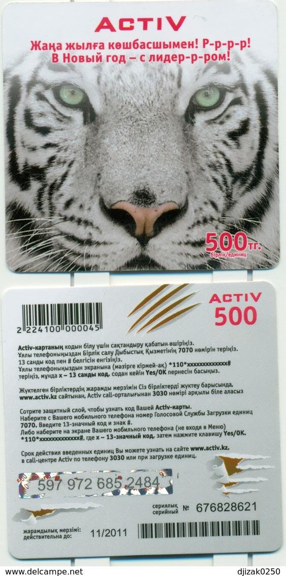 Kazakhstan.Year Of The Tiger. Prepaid Phone Card. - Kazakhstan