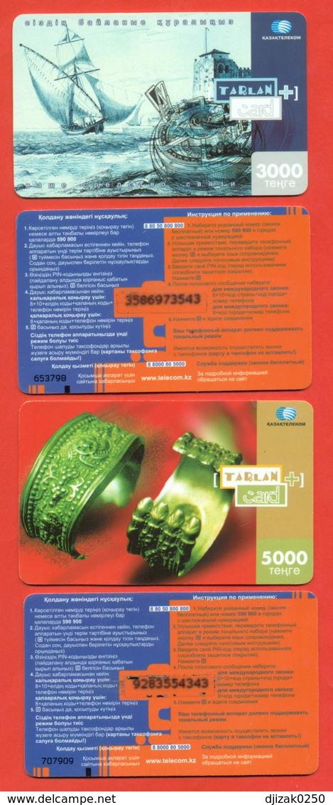 Kazakhstan 2006. Lot Of Two Plastic Phone Cards. - Kazakhstan