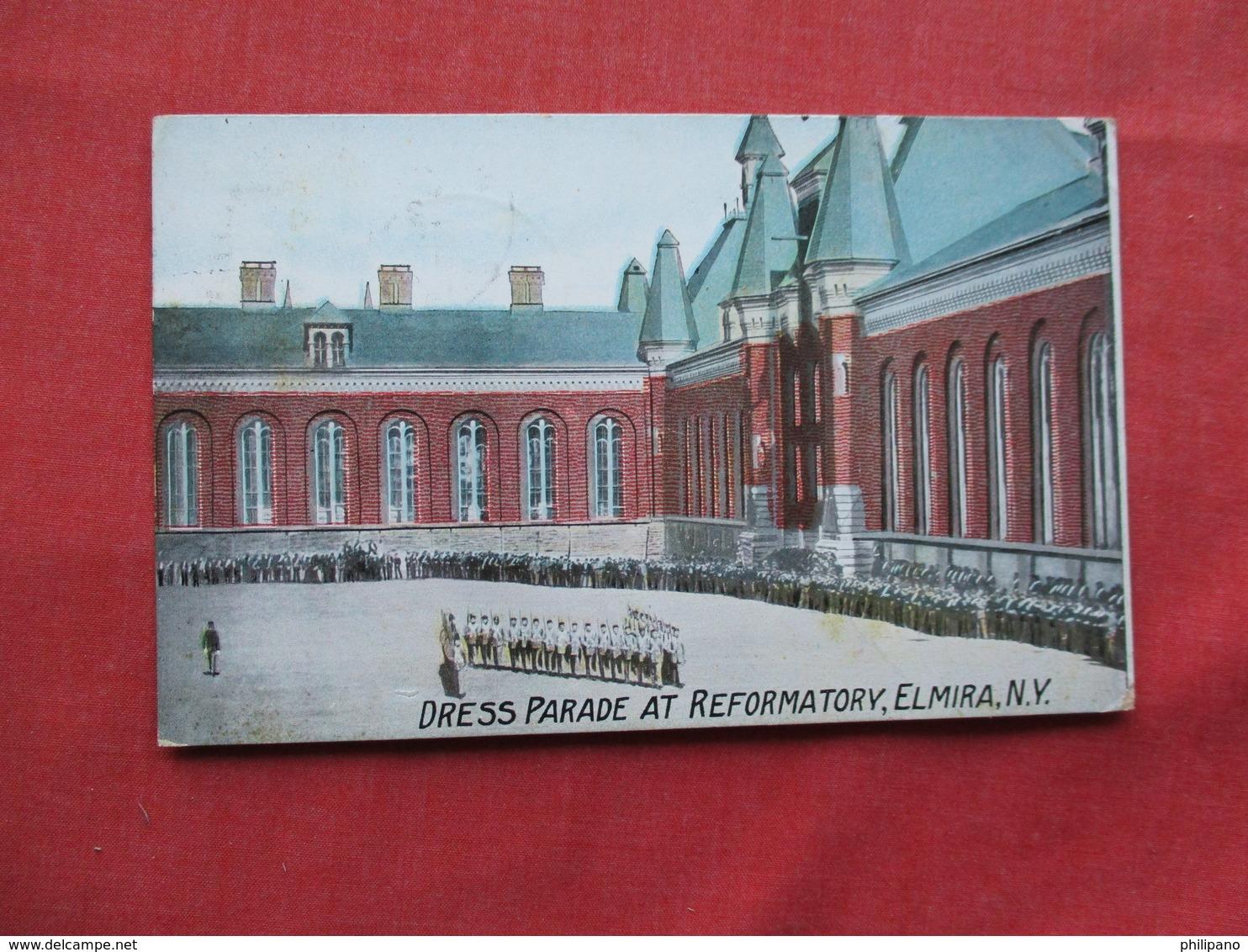 Dress Parade At Reformatory  Elmira NY      > Ref 3251 - Prison