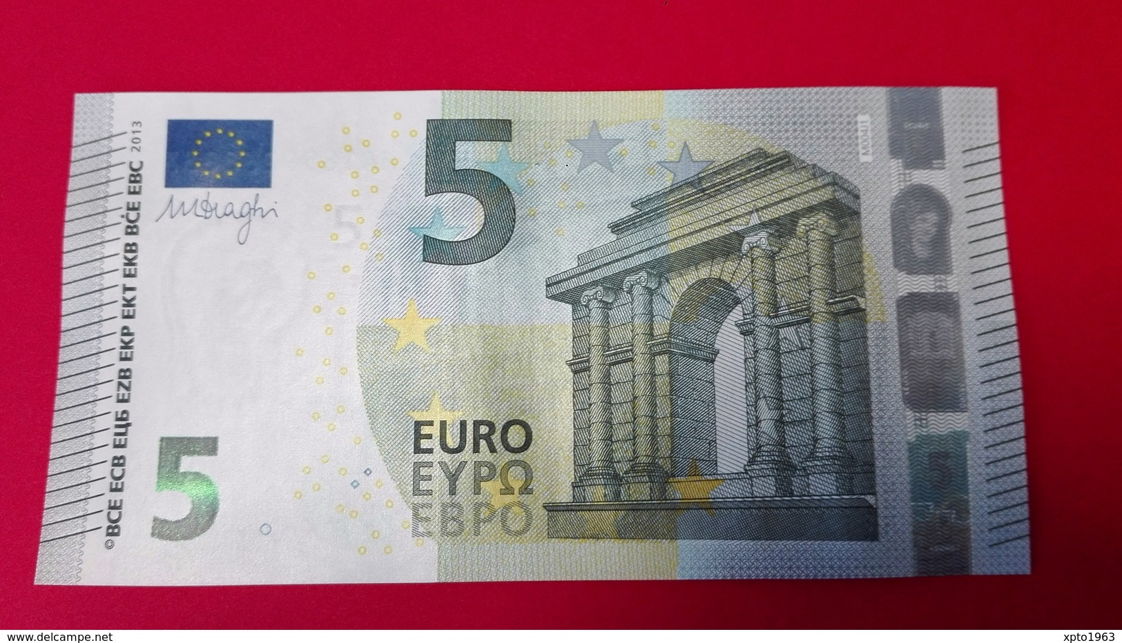 5 EURO M004 J1 PORTUGAL M004J1 - Serial Number MA1859268863 - UNC FDS NEUF - 5 Euro