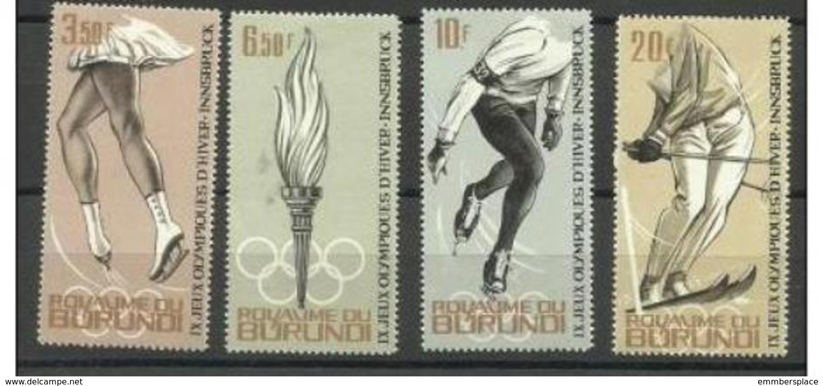 Burundi - 1964 Winter Olympics P/set  MH *   SG 73-6  Sc 69-72 - Burundi