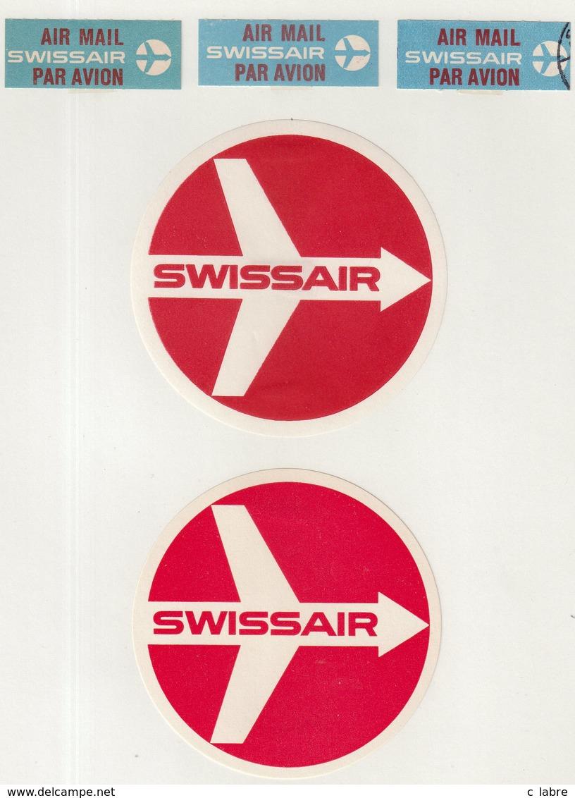 ETIQUETTES A BAGAGES  : SUISSE . SWISSAIR . - Étiquettes à Bagages