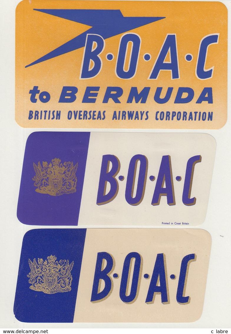 ETIQUETTES A BAGAGES  : GRANDE - BRETAGNE . B.O.A.C . - Étiquettes à Bagages