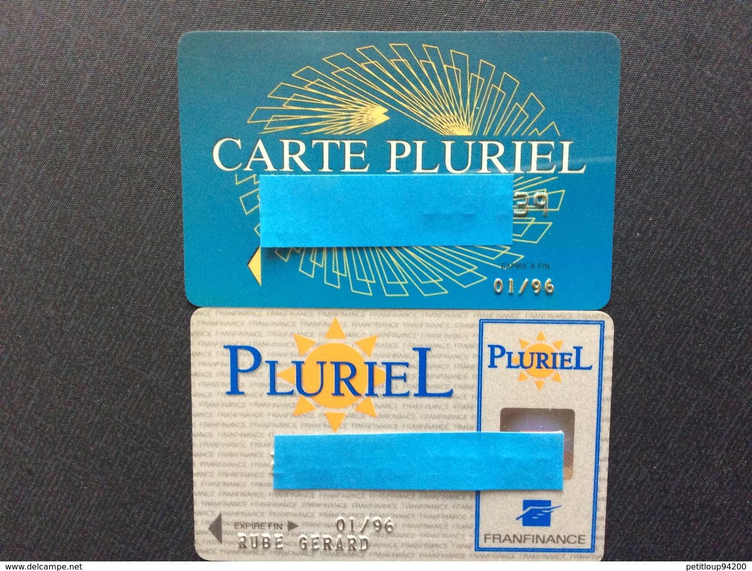 2 CARTES DE CRÉDIT  FRANFINANCE  Cartes Pluriel - Geldkarten (Ablauf Min. 10 Jahre)