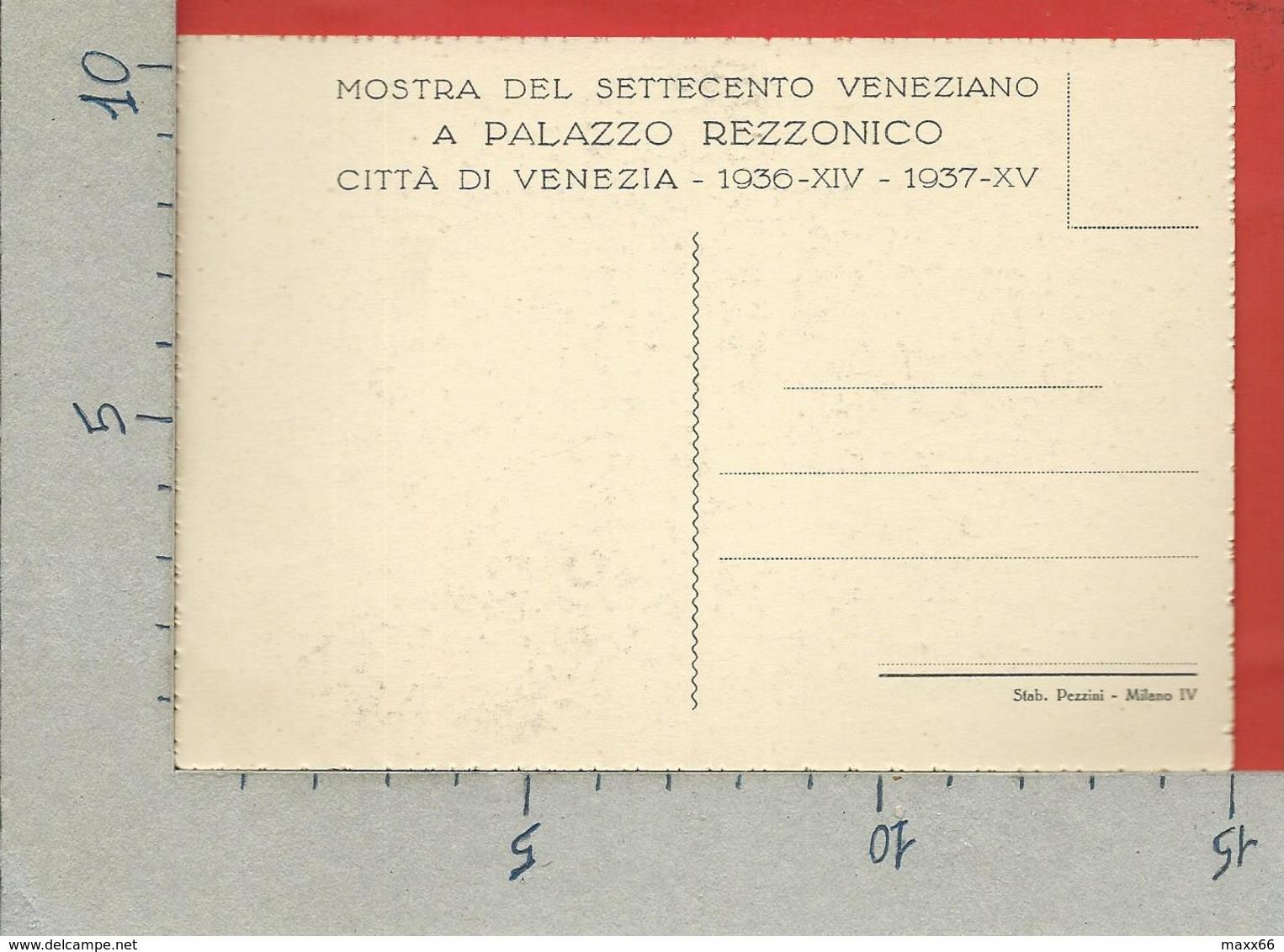 CARTOLINA NV ITALIA - 1936 Mostra Settecento Veneziano A Cà Rezzonico - VENEZIA - Portego Di Zianigo - 10 X 15 - Esposizioni