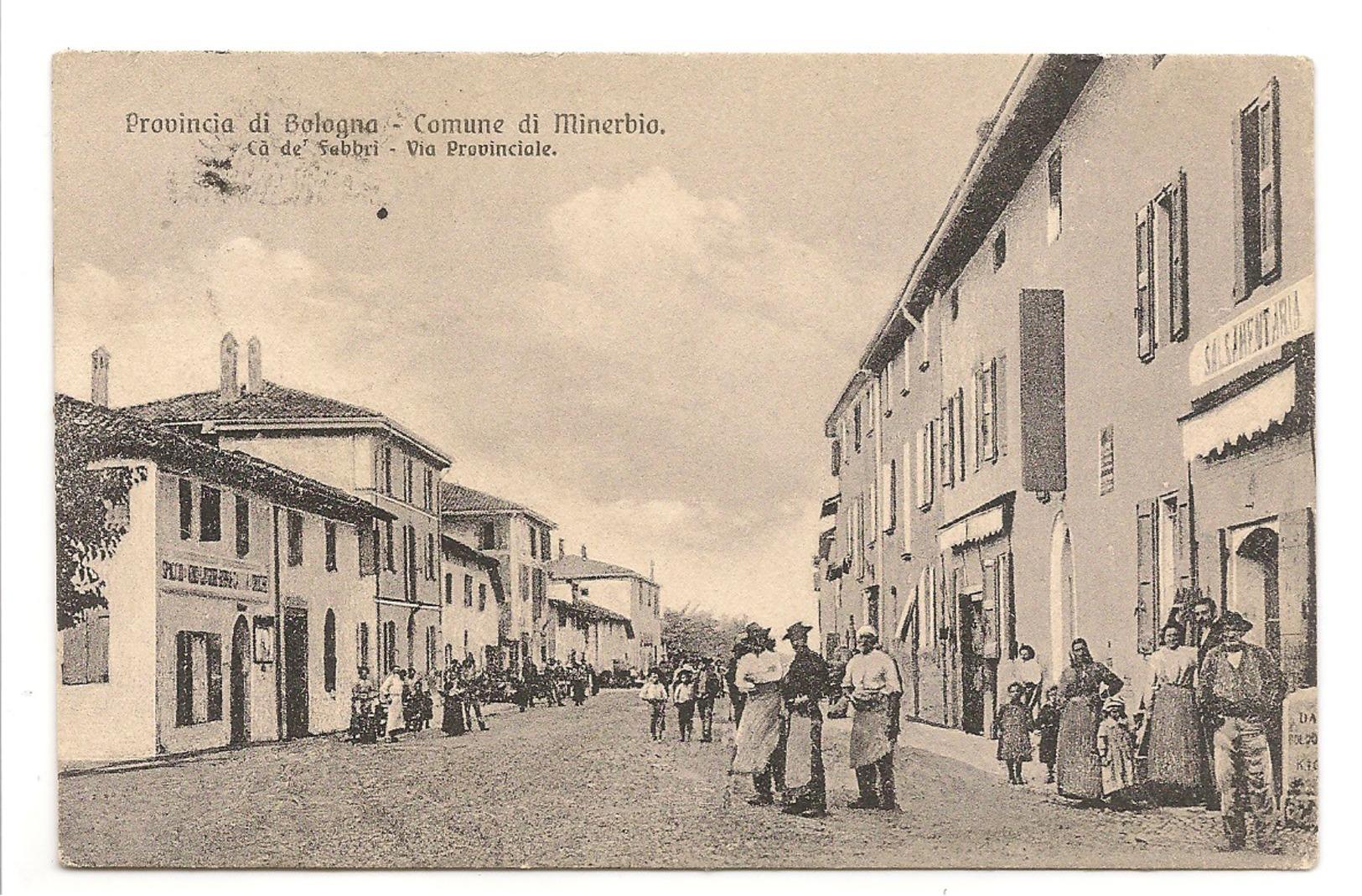 PROVINCIA DI BOLOGNA - COMUNE DI MINERBIO . CA DE'  FABBRI - VIA PROVINCIALE - Bologna